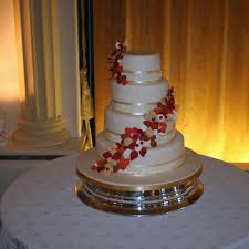 autumn leaves autumn themed wedding cake