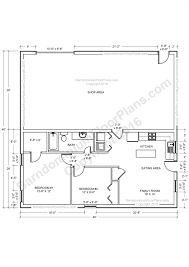 barndominium floor plans pole barn house plans and metal barn this is a 2 bedroom 2 bath barndominium plan with a master suite for a 40 foot wide building it has a 30 x 40 shop area