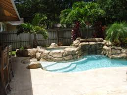 Small Pools For Small Yards by Very Small Backyard Pool Sun Deck Grotto Slide Pool Ideas