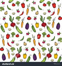 Kitchen Background Seamless Kitchen Background Vegetables Beautiful Background Stock