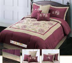 Red Gold Comforter Sets Crawford Eleven Piece Queen Comforter Set Burgundy Comforters