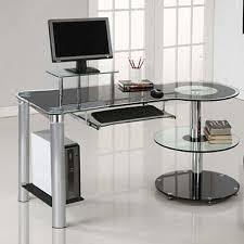 Black And Chrome Computer Desk Innovex Orbit Desk Black Chrome Sam S Club