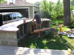 how to build an outdoor kitchen island diy cinder blocks table spectacular pre built outdoor kitchen