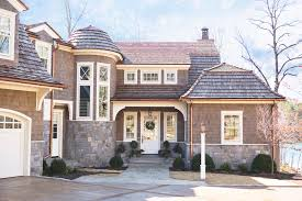 Entry1 by Cedar Shake Vinyl Siding Exterior Traditional With Arched Garage