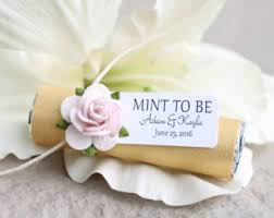 engagement party favors decorated and personalized mint favors for by babyessentialsbymel