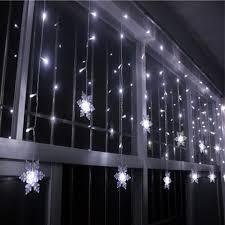 snowflake string of lights white christmas indoor decor snowflake pendant led string light