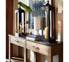 pottery barn bar table parker reclaimed wood console table pottery barn au with and media