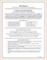 Sample Resume For Restaurant Manager by Hospitality Sample Resume It Resume Cover Letter Sample