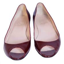 revival boutique mumbai patent leather peep toe flats shoes
