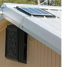 o w l technologies solar attic fan gable mount