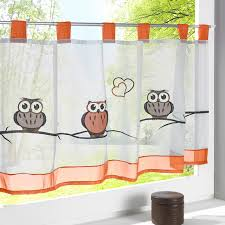 coffee kitchen curtains urijk 1pc 3d printed owl decorative half curtains for coffee