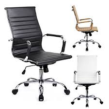 Desk Chair Modern Modern Ribbed Office Chair Leather Office Chair High
