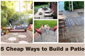 Build Cheap Patio Furniture by 5 Cheap Ways To Transform Your Patio