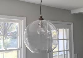 Diy Glass Bubble Chandelier How To Diy Sphere Chandelier From A Glass Bowl Curbly