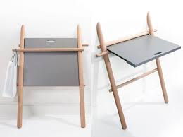 wooden desk contemporary wall mounted appunto by laurent