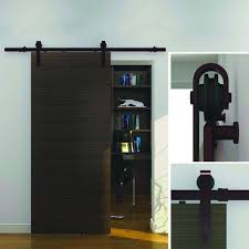 Sliding Barn Door For Home by Everbilt Dark Oil Rubbed Bronze Steel Decorative Sliding Door