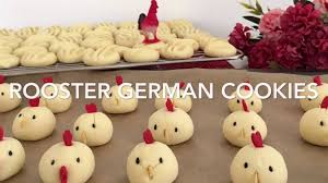 rooster german cookies for chinese new year youtube