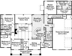 Half Bath Floor Plans Craftsman Style House Plan 4 Beds 3 50 Baths 2789 Sq Ft Plan 21 396