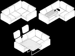 Alda X Corner Double Sofa Bed Nabru - Double sofa bed dimensions