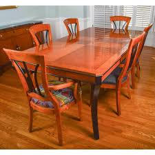 Walnut Dining Room Furniture Biederman Style Walnut Dining Room Table And Six Chairs Ebth
