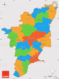 tamil nadu map political simple map of tamil nadu cropped outside