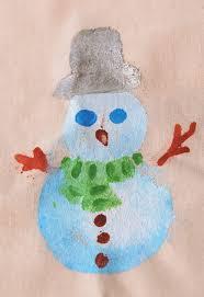 easy fabric painting idea christmas xmas snowman snowmen