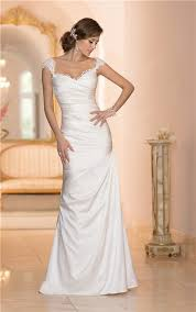 Satin Wedding Dresses Sweetheart Open Back Satin Ruched Wedding Dress With Lace Straps