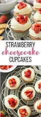 these strawberry cheesecake cupcakes have a graham cracker base