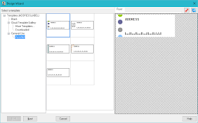 creating address mailing labels or envelopes from the built in
