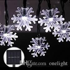 snowflake string of lights christmas snowflake string lights 4 8m 20 leds outdoor garden