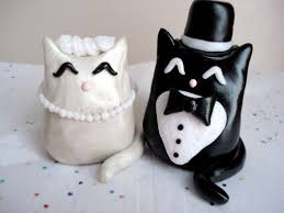 cat wedding cake topper cat wedding cake topper polymer clay cake by magicalgifties