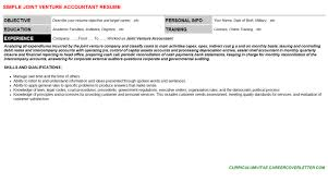 joint venture accountant cover letter u0026 resume