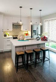 Two Tone Kitchen Island Amusing Two Tone Kitchen Cabinets And Black Color Countertop