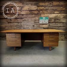 Mid Century Modern Office Desk Vintage Mid Century Modern Seven Drawer Office Desk Industrial