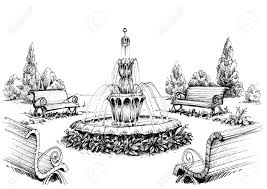 l with water fountain base water fountain in the park royalty free cliparts vectors and stock