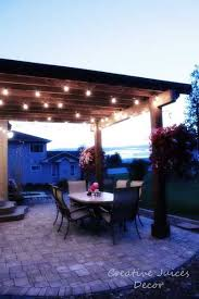 Hanging Patio Lights by Best 25 Industrial Outdoor String Lights Ideas On Pinterest