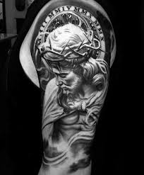 tattoo n 3d 60 3d jesus tattoo designs for men religious ink ideas