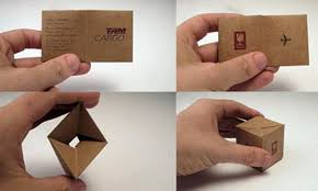 25 unique folded business cards
