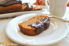 cinnamon banana pound cake with sour cream ganache 2 sisters
