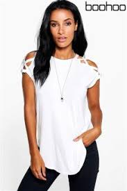 boo hoo buy women s tops boohoo white from the next uk online shop