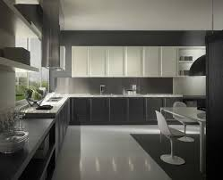 design black white kitchen design stained wood cabinet wall