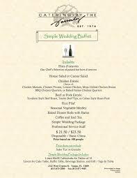 brunch wedding menu wedding menus simple buffet catering by the family