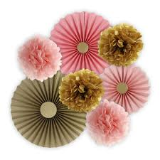 celebrate it occasions poofs décor kit pink gold