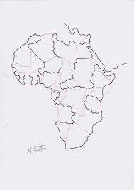 africa map drawing why continuous line what is the point of it mick burton