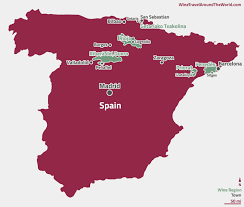 Spain Regions Map by Spain Wine Travel Around The World