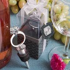 engagement favors diamond ring wine bottle stoppers engagement favors