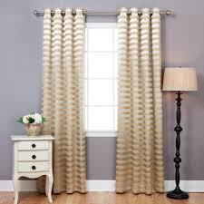 Gold Striped Curtains Satin Stripe Room Darkening Grommet Curtain Pair Gold
