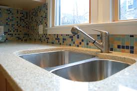recycled glass backsplashes for kitchens recycled glass countertops kitchen home design and decor