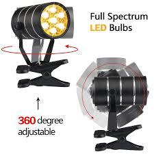 amazon com aokey led grow light for indoor plants 9w adjustable