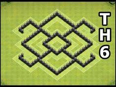 coc map layout th6 clash of clans town hall 6 defense coc th6 best war base layout